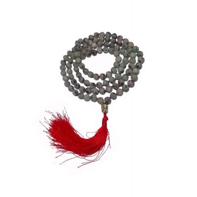 108 Black Spot Amazonite Prayer Beads